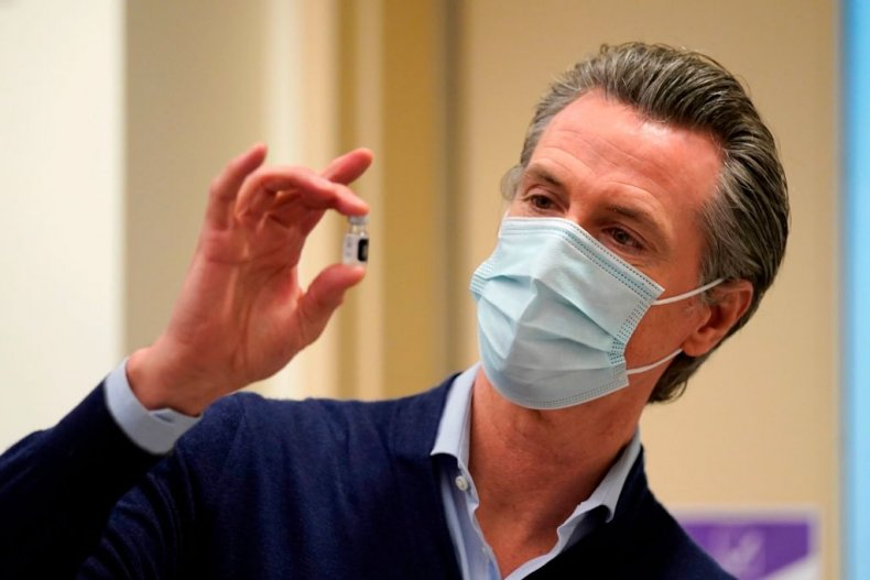 Governor Gavin Newsom Holds COVID Vaccine