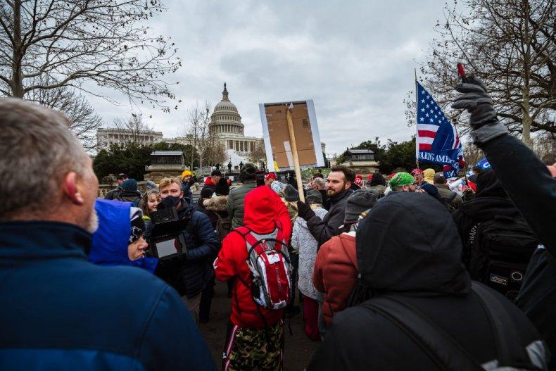 Pro-Trump protesters