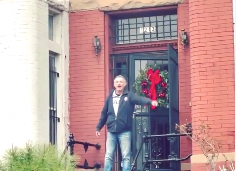 Guy on Porch Capitol Protest Riots