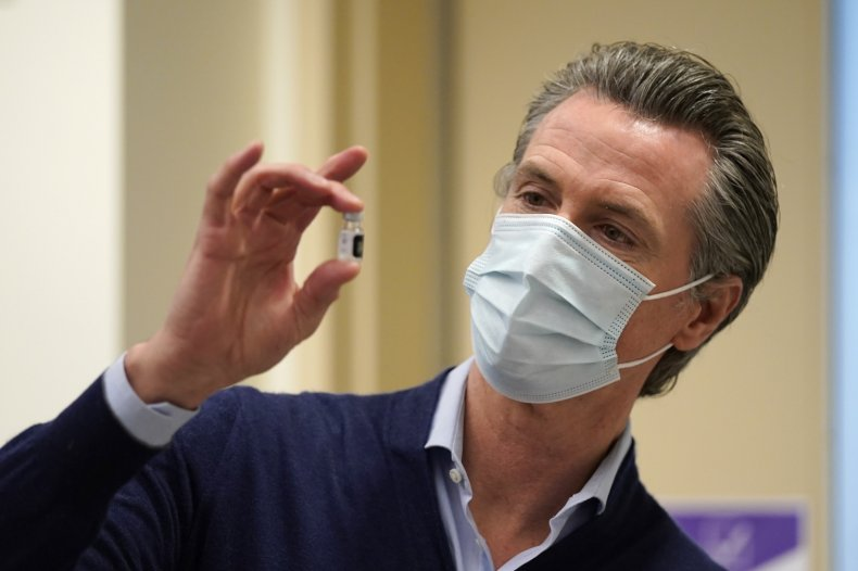 Gavin Newsom California COVID-19 Vaccine Distribution