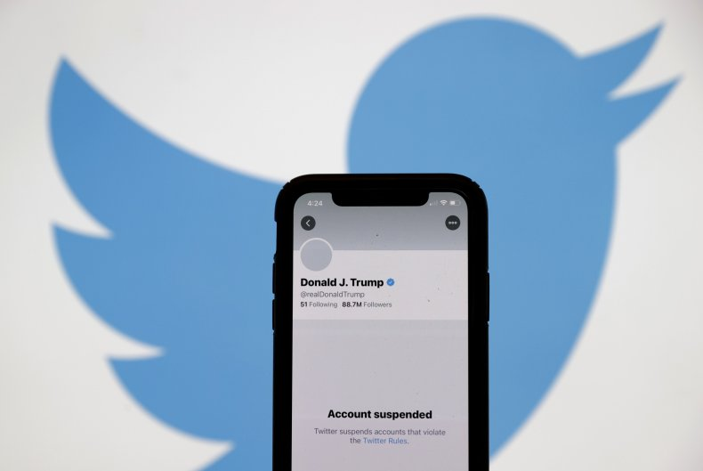 President Donald Trump's Suspended Twitter Account