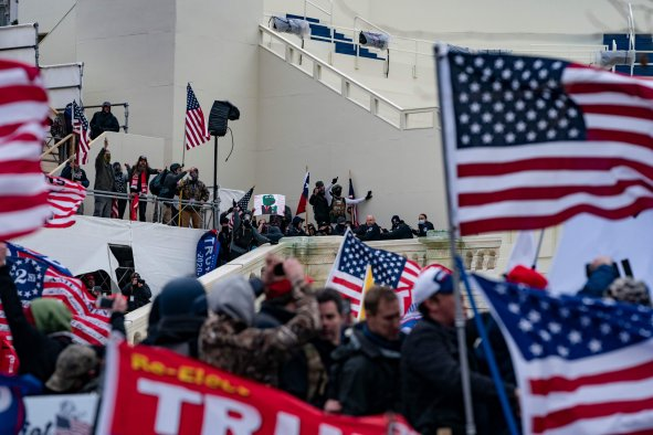 Trump supporters clash at Capitol