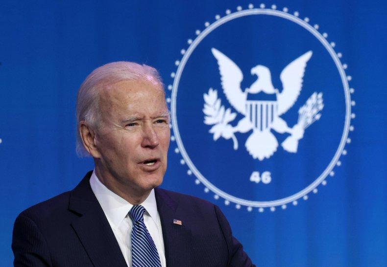 Joe Biden in Delaware speaking as President-elect