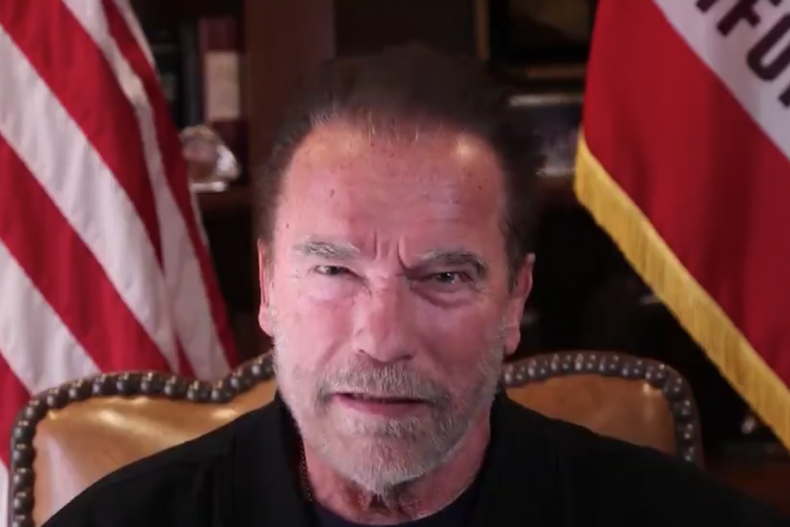 Arnold Schwarzenegger deliver powerful message in video