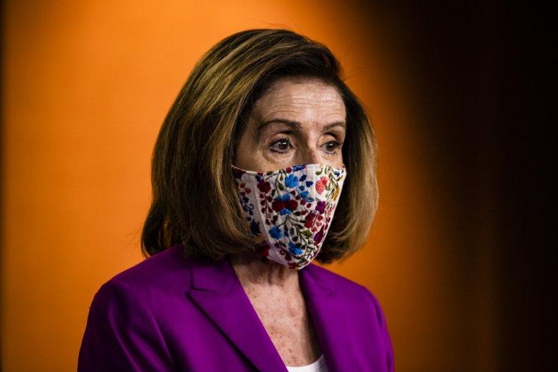 Nancy Pelosi speaks at the U.S. Capitol