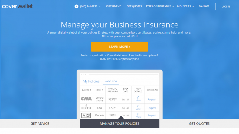 coverwallet insurance recession