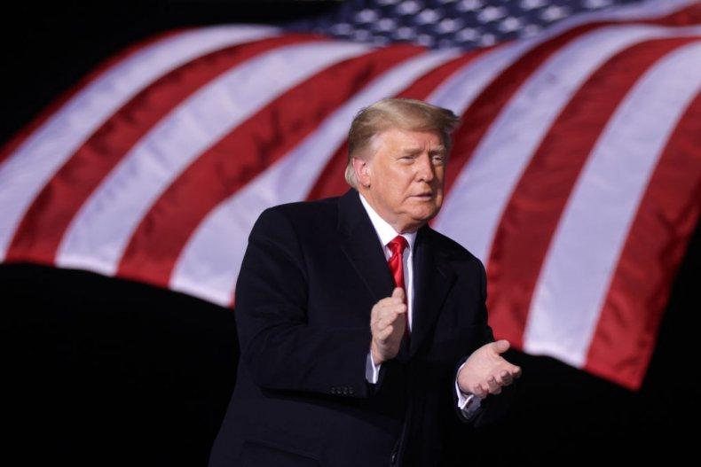 Donald Trump at RNC Rally