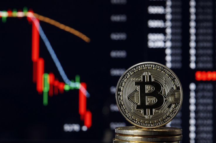 Bitcoin on market plunge backdrop