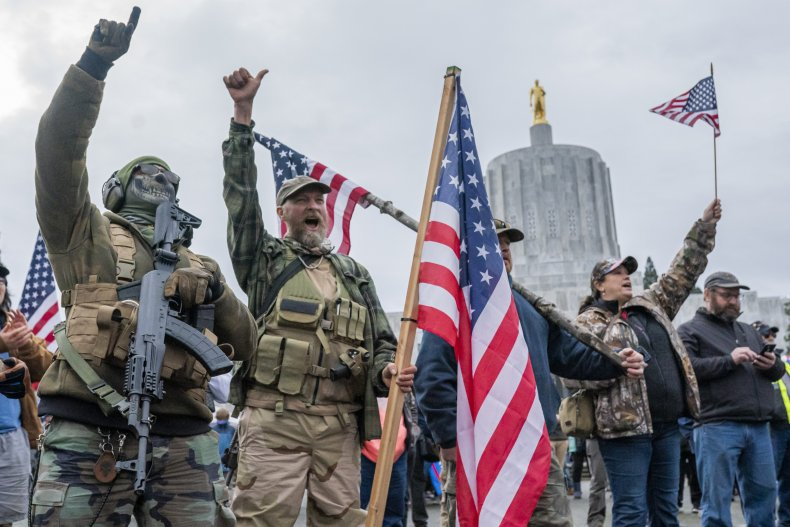 trump, supporters, militia, oregon, unrest