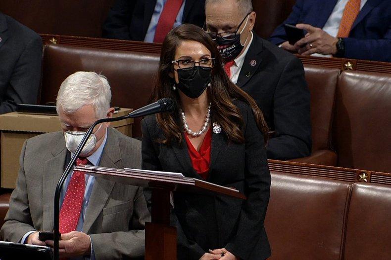 Rep. Lauren Boebert During Electoral College Debate