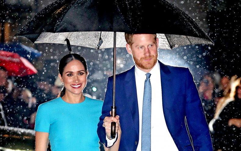 Meghan Markle, Prince Harry in the Rain