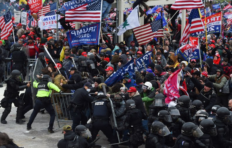Trump supporters clash with police outside Capitol