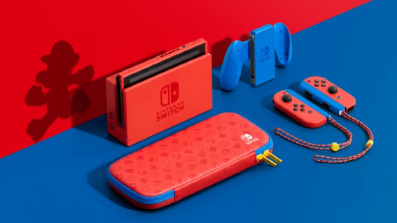 nintendo switch mario red blue edition