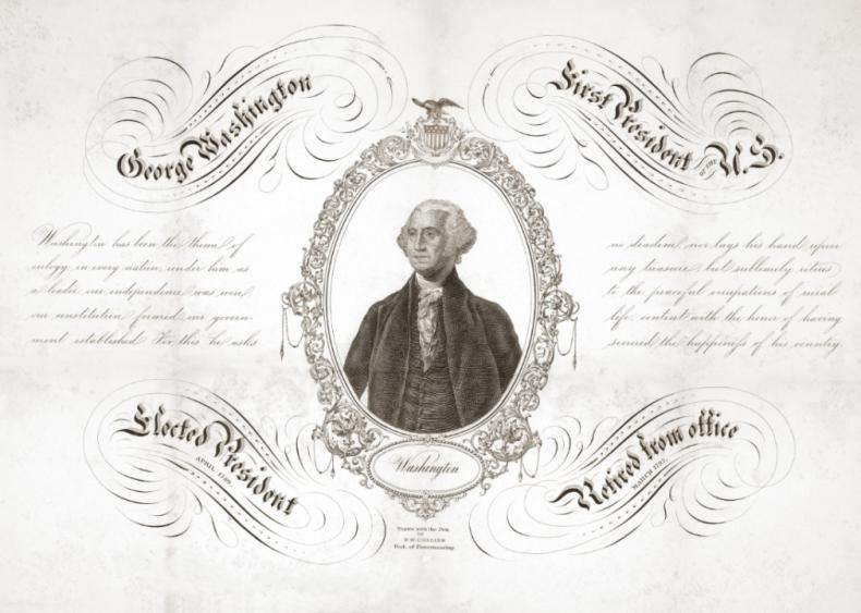 1789: Washington wins unanimously
