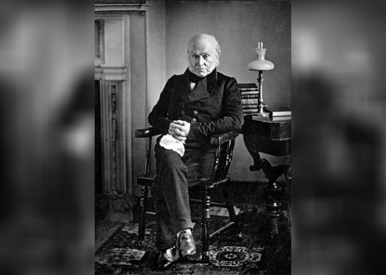 1825: First son of previous president to serve