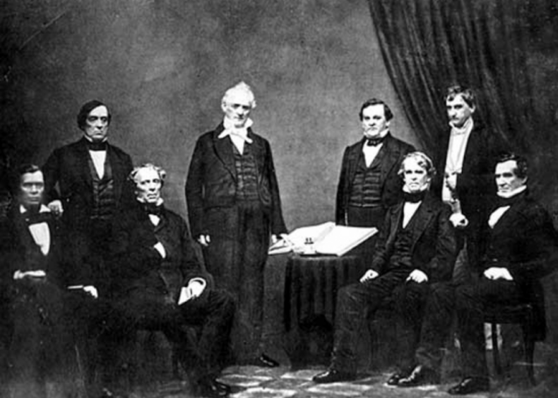 1857: First and only unmarried president