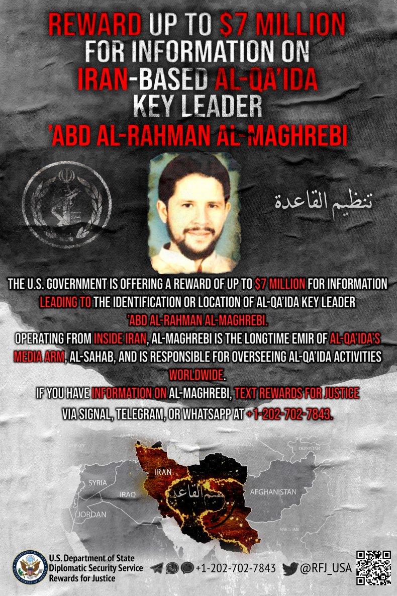 iran, al-qaeda, state, department, reward