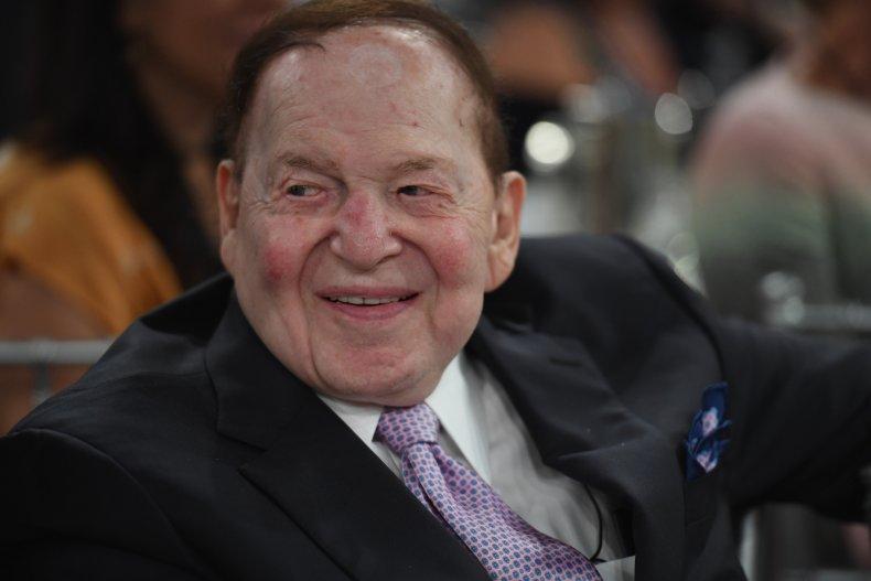 Sheldon Adelson attends gala in Beverley Hills