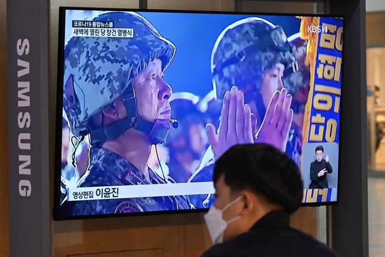north, korea, military, parade, south