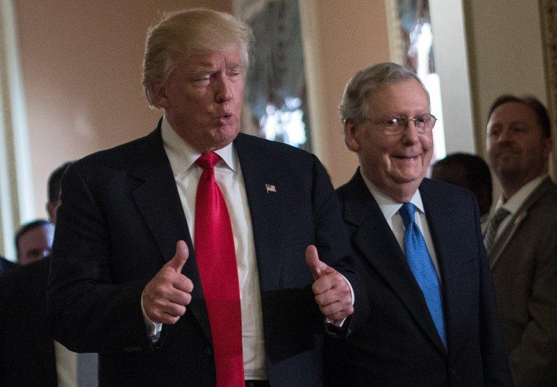 trump impeachment senate mitch mcconnell