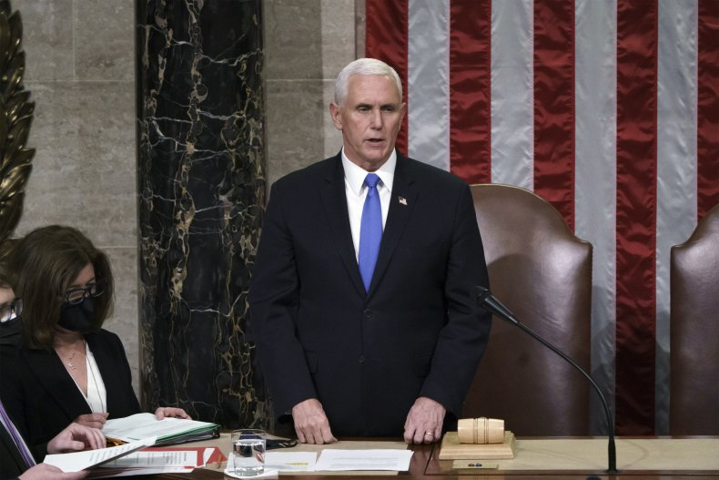 Vice President Mike Pence on January 6