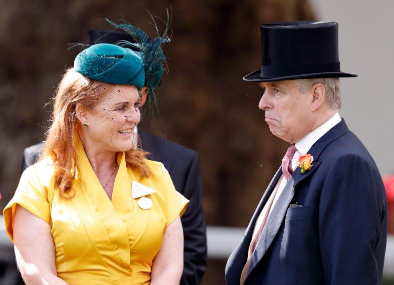 Sarah Ferguson and Prince Andrew at Ascot