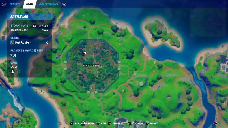 fortnite mysterious pod location map
