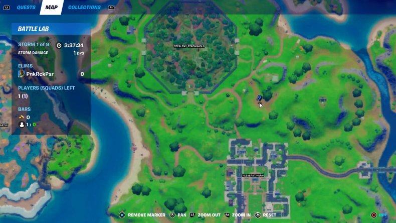 fortnite dummy location 1 map