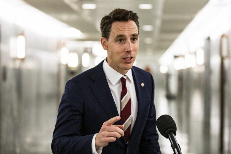 Senator Josh Hawley in Washington DC