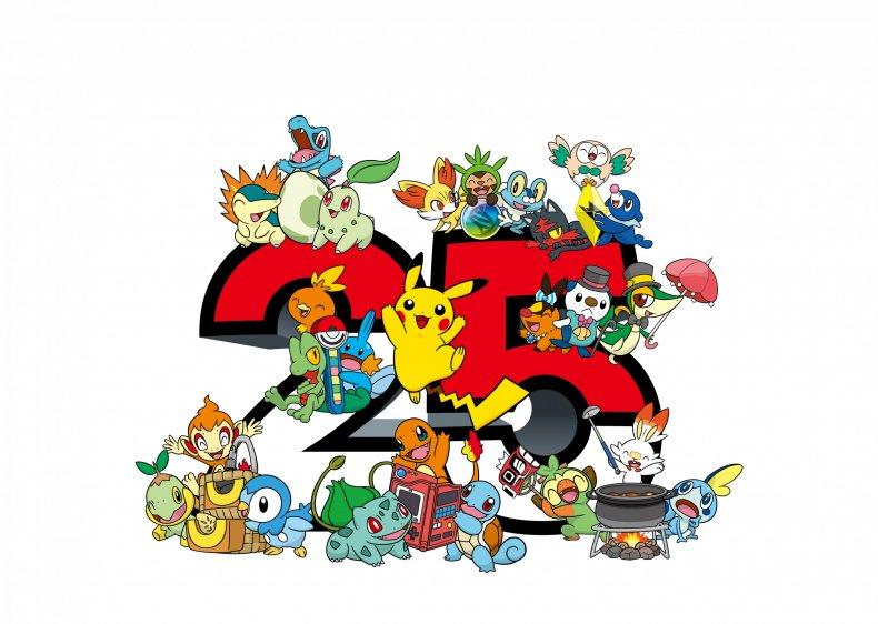 pokemon 25th anniversary logo art
