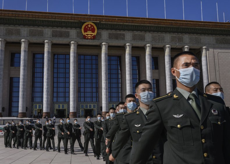 People's Liberation Army in Beijing in October