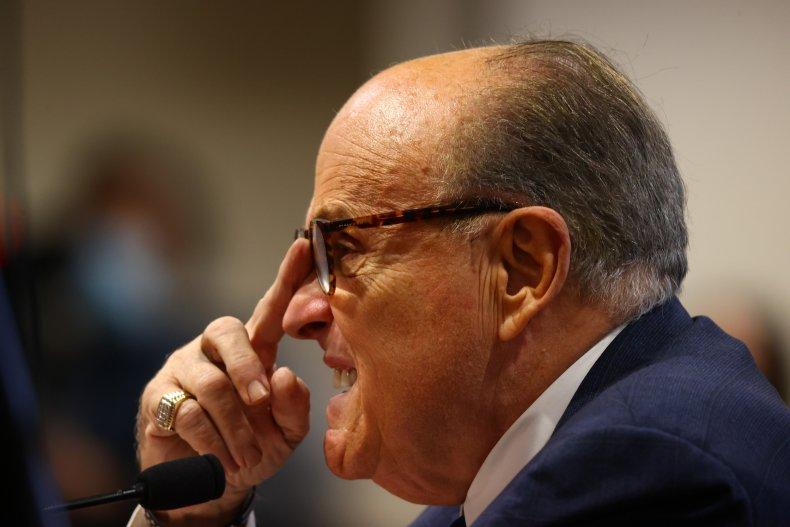 Rudy Giuliani Appears Before Michigan State Legislature's