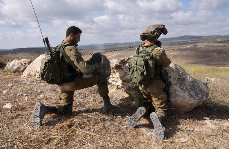 IDF soldiers in northern Israel in October