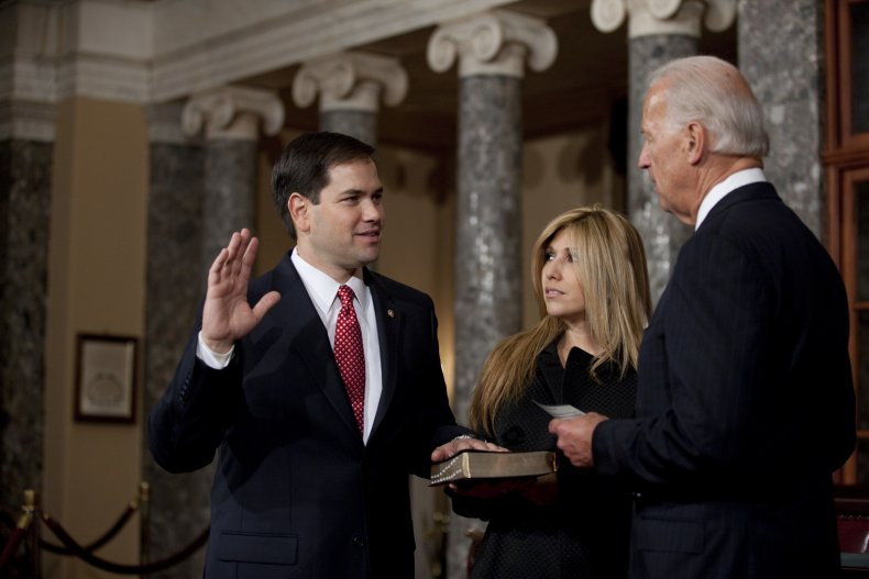 Marco Rubio and Joe Biden in Congress
