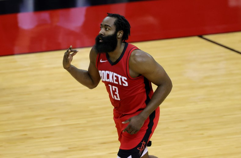 James Harden of the Houston Rockets