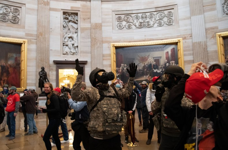 Trump supporters inside the U.S. Capitol