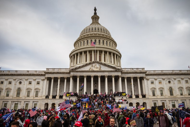 Trump supporters storm steps of U.S. Capitol