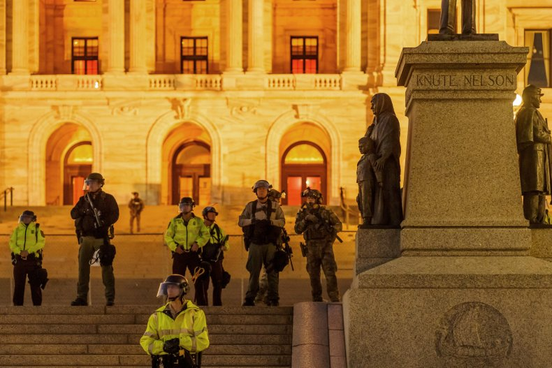 Minnesota State Patrol National Guard Capitol 2020