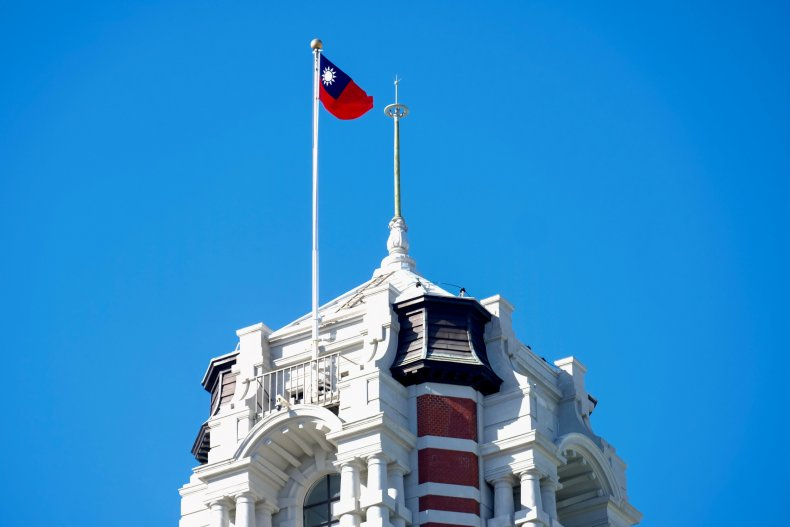 Taiwan Flag Flies Above Presidential Palace