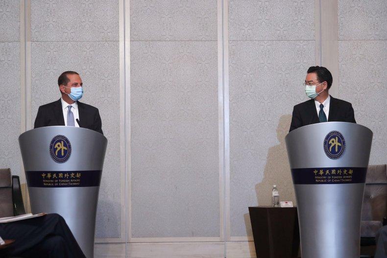 Secretary Alex Azar Meets Taiwan's Foreign Minister