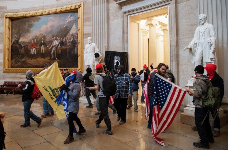 Trump Supporters Capitol Invasion Rotunda