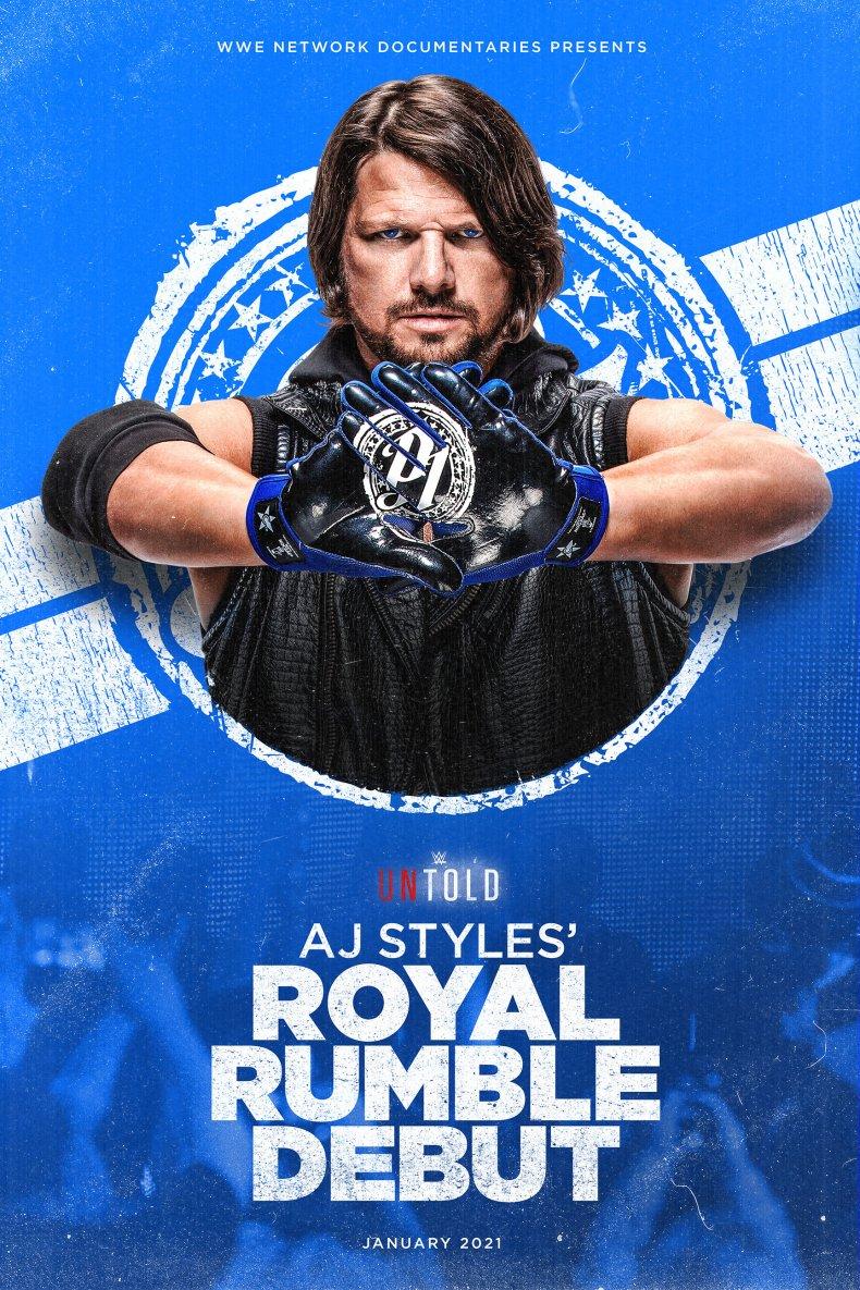 wwe untold aj styles royal rumble debut