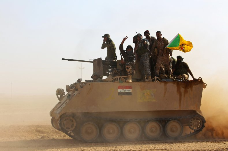iraq, popular, mobilization, forces, hezbollah, isis