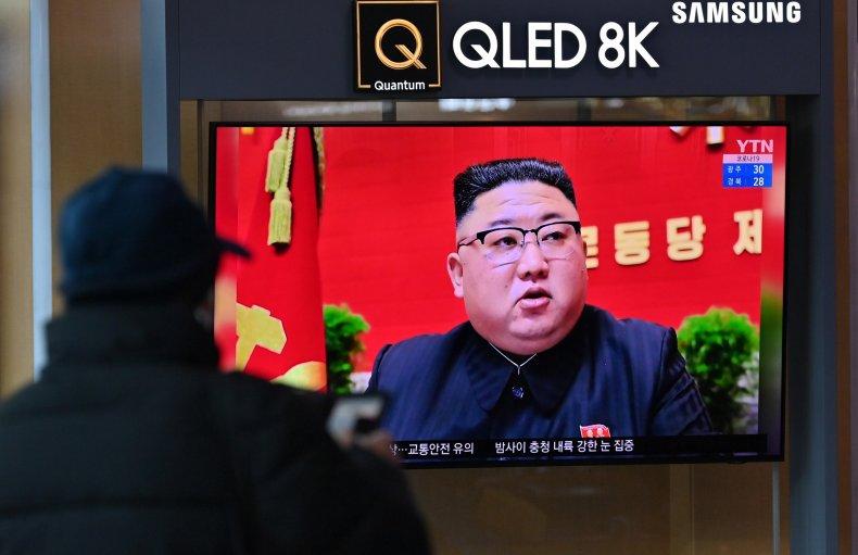 Kim Jong Un on TV in Seoul