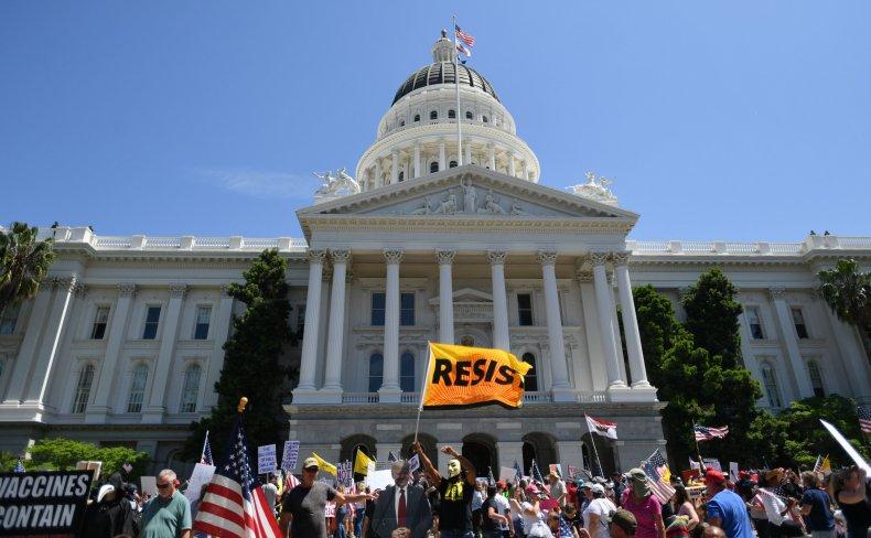 Anti-lockdown Sacramento protest