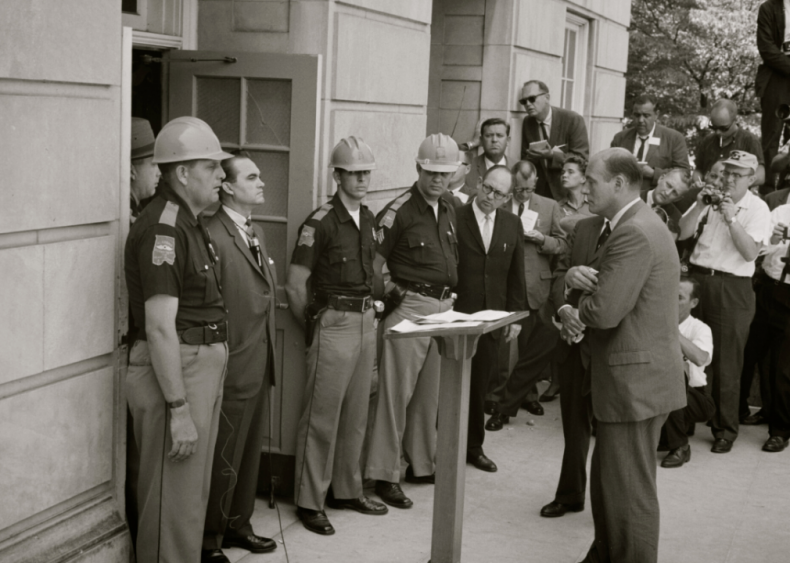 George Wallace attempts to block school integration