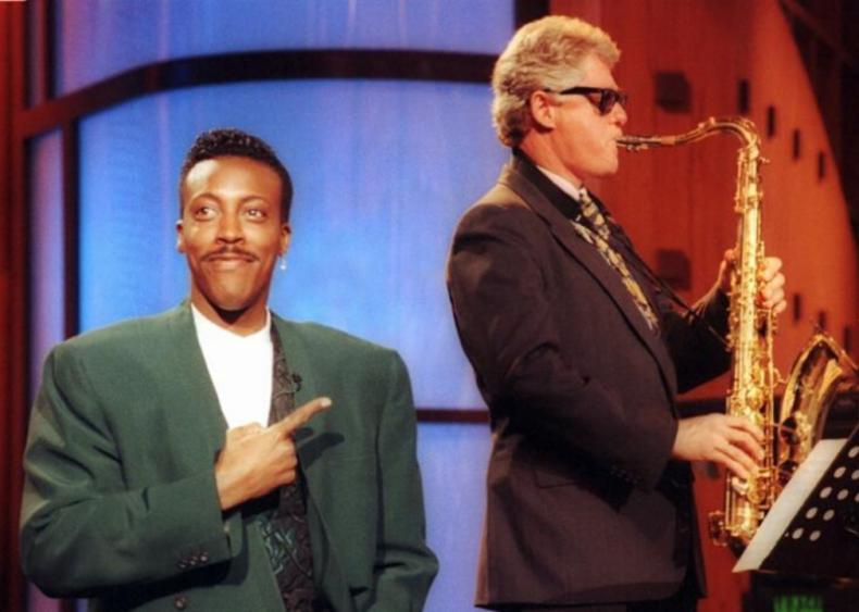 Bill Clinton plays the sax on 'Arsenio Hall'