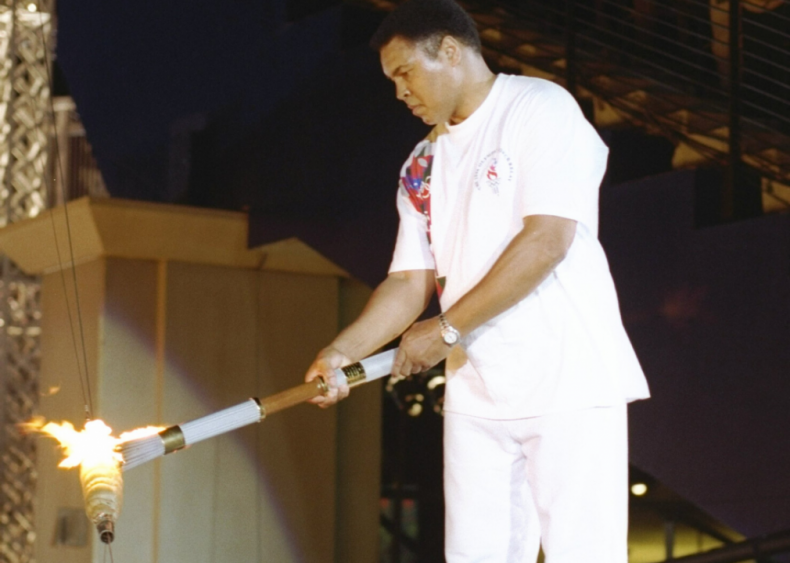 Muhammad Ali lights the Olympic torch