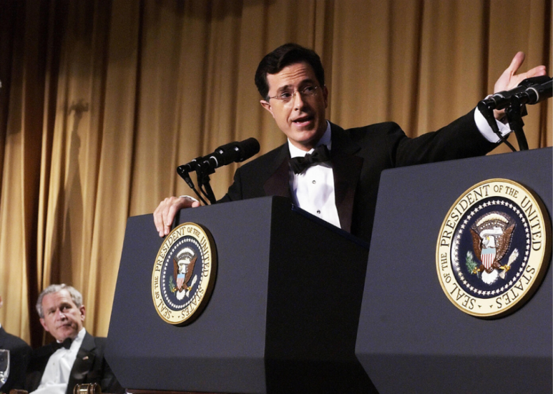 Stephen Colbert performs at the White House Correspondents' Dinner