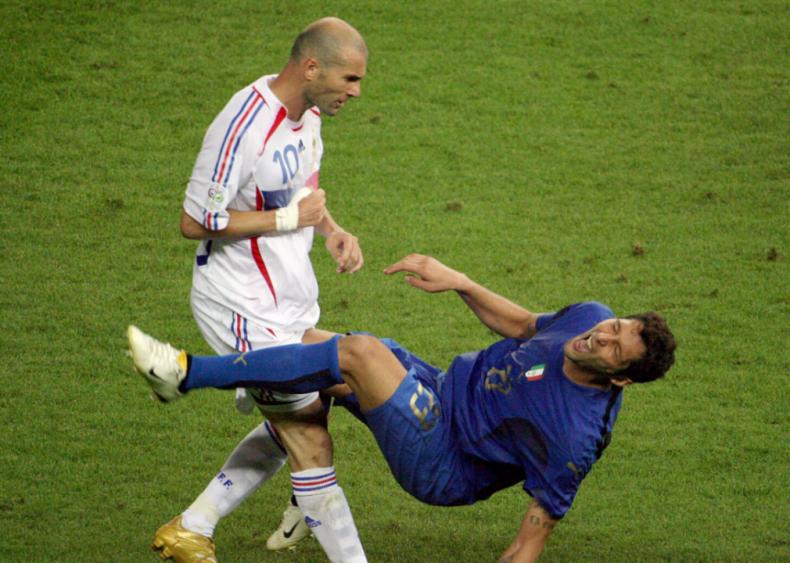 Zinedine Zidane's headbutt in the World Cup